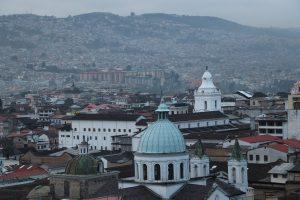 Quito - Ausblick beim Frühstück