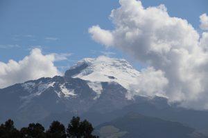 Vulkan an der Äquatorlinie