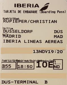 Flug von Düsseldorf nach Madrid