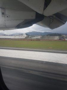Flug von Quito nach Cuenca, Landung in Cuenca