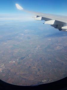 Flug von Quito nach Madrid - Landeanflug Madrid