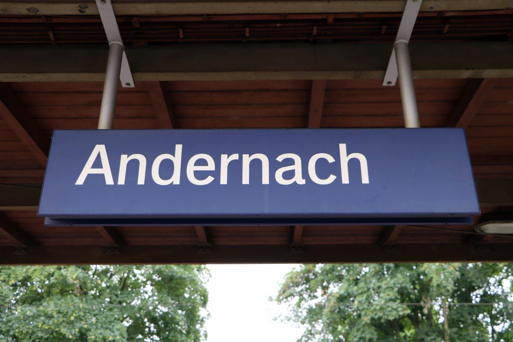 Ankunft in Andernach Bahnhof