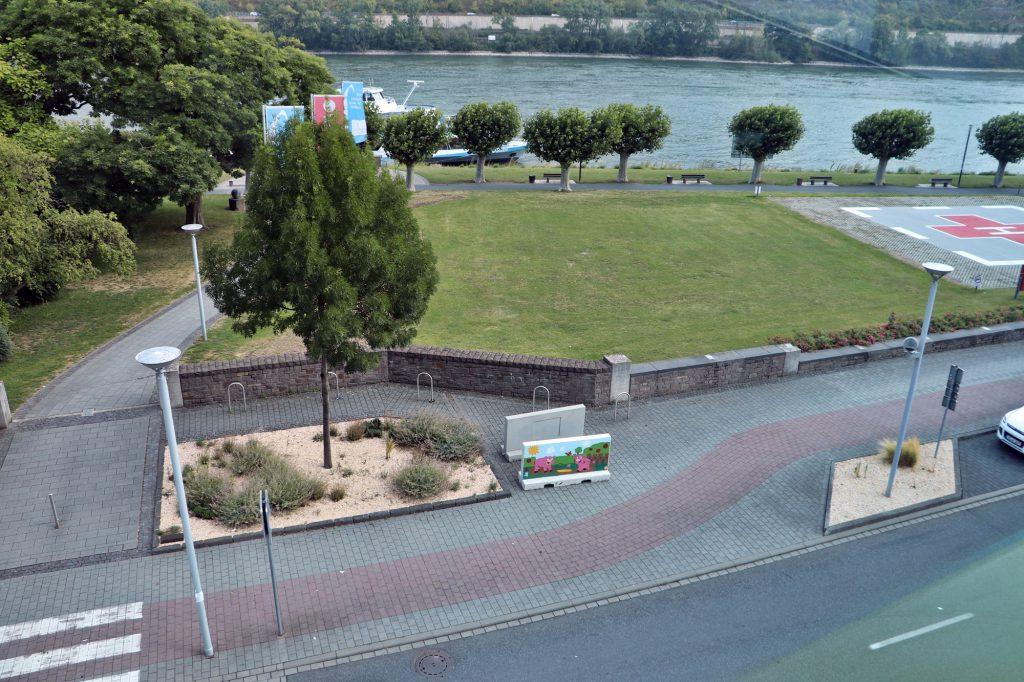 Geysir Andernach Besucherzentrum- Aussichtsplattform